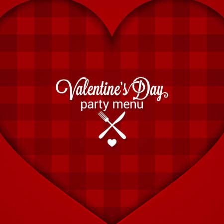 valentine day: Valentines Day Dinner Party Menu Background.