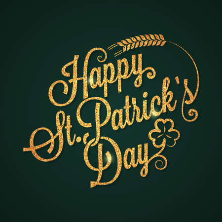 patrick day: patrick day vintage golden lettering background