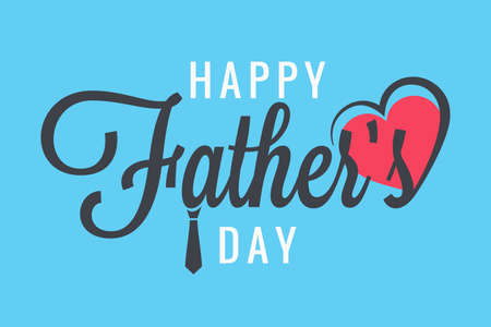 fathers day banner family party Illustration