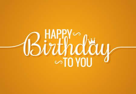 Birthday banner logo design background