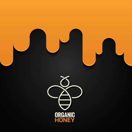 organic fluid: Honey bee logo design background