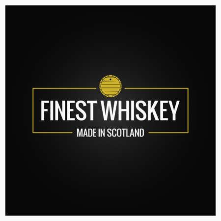 A whiskey quality logo design background illustration. Ilustrace