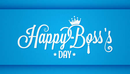 ボスの日ロゴ ビンテージ デザインの背景をレタリング  イラスト・ベクター素材