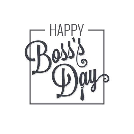boss day logo lettering design background Ilustração