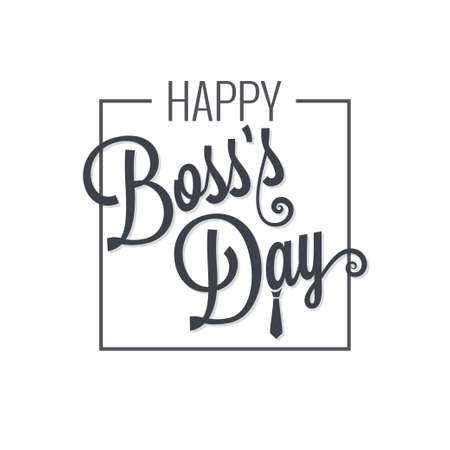 boss day logo lettering design background Illustration