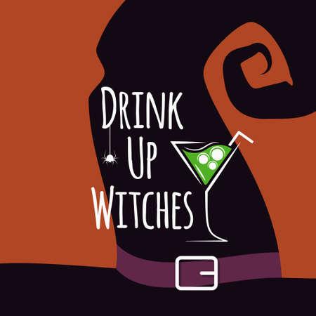 Halloween cocktail party design background 10 eps Illustration