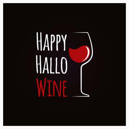 Happy Halloween Wine Concept Sign Background 10 eps Stock Vector - 87551443