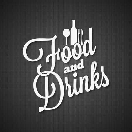Food and drink vintage lettering menu. Illustration