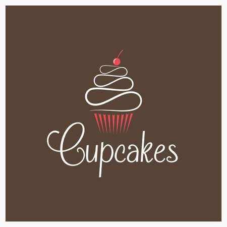 Cupcake cream chocolate design.