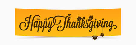 thanksgiving lettering banner design.