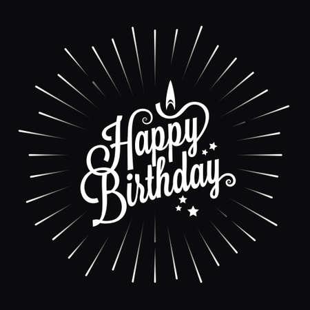 happy birthday logo star burst design background 10 eps Illustration