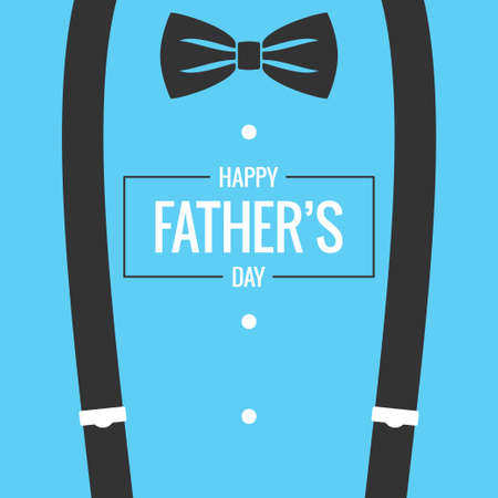 fathers day card with bow tie and suspenders background Stock Illustratie