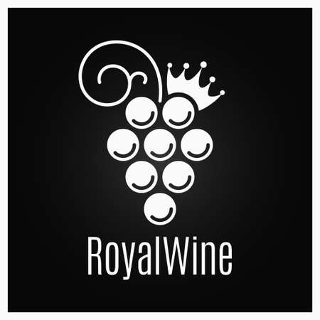 Wine grape vintage on black background Stock Vector - 105404022