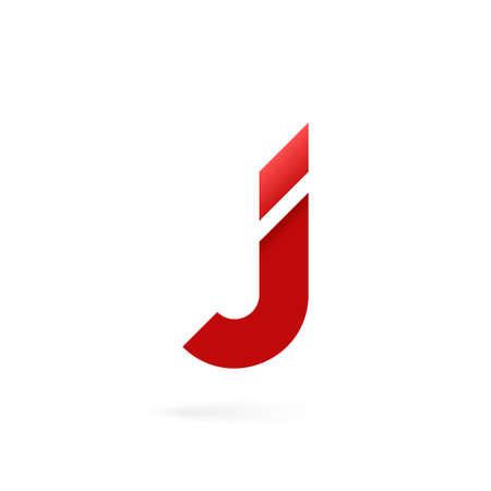Letter J logo on white alphabet background