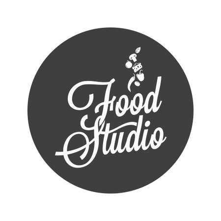 food studio vintage avatar on white background Stock Illustratie