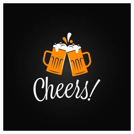 Beer cheers banner. Cheers lettering with beer Banco de Imagens - 118426282