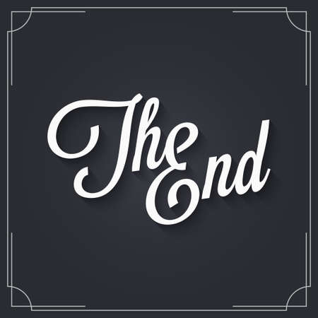 The end sign design. Vintage movie ending