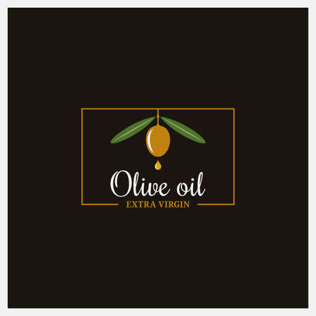 Olive oil extra logo on black