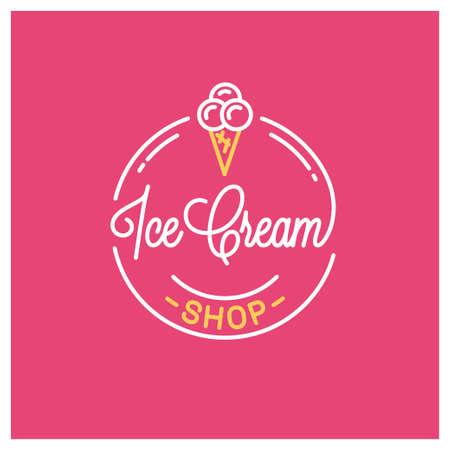 Round linear   of ice cream