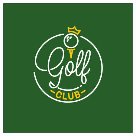 Round linear  of golf ball Ilustrace