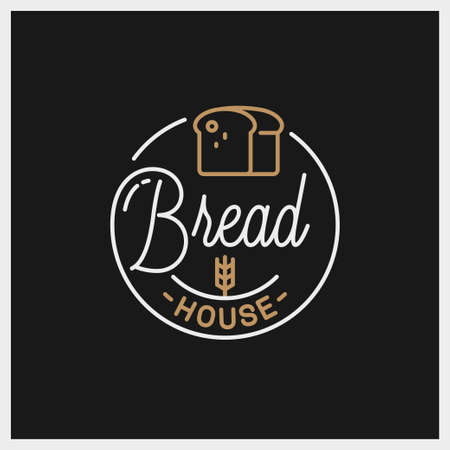 Bread shop  . Round linear of bread house