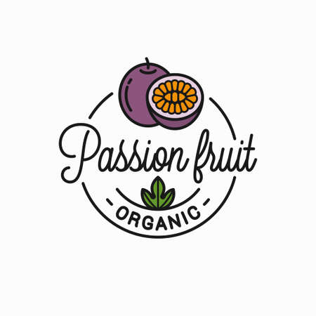 Passion fruit  . Round linear of passion slice