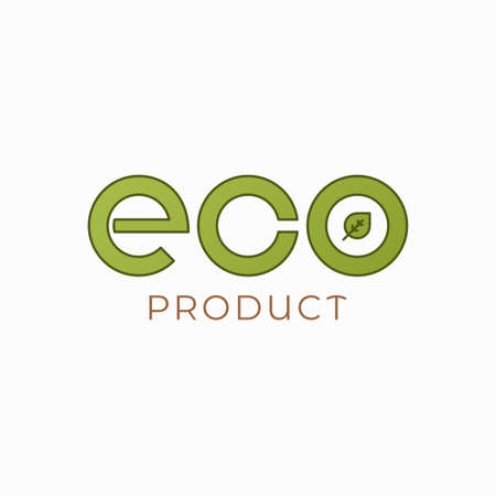 Eco product logo on white