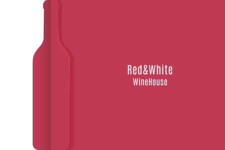 Wine banner. Cut paper red and white wine vector