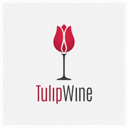 Wine glass concept. Wine logo on white background