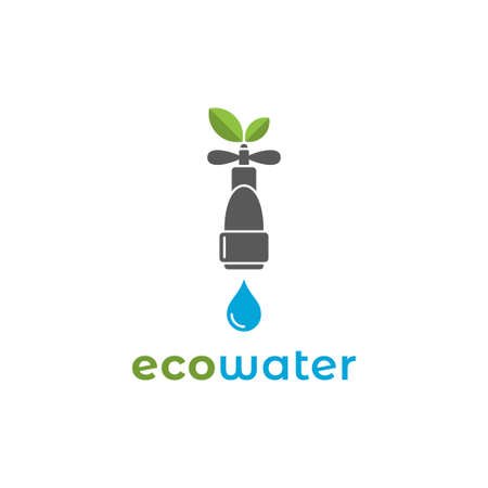 Eco water  with water mixer on background