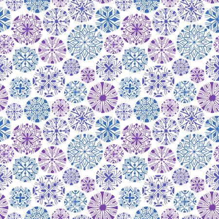 flakes: Christmas snowflakes seamless pattern