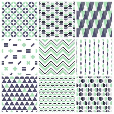 Ensemble de motifs géométriques sans soudure Vecteurs