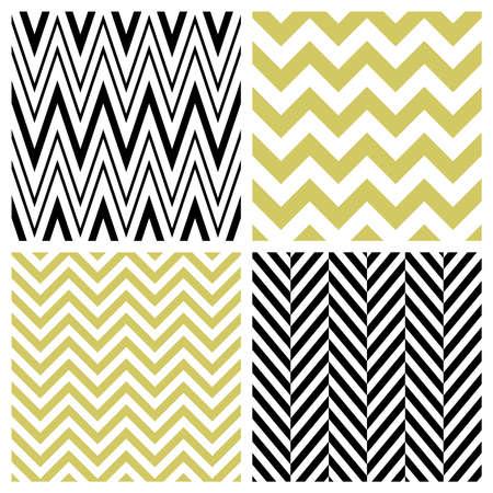 seamless patterns: Set of chevron seamless patterns