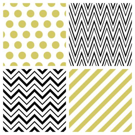 geometrical: Set of geometric seamless patterns