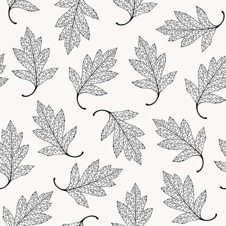 Leaves seamless pattern