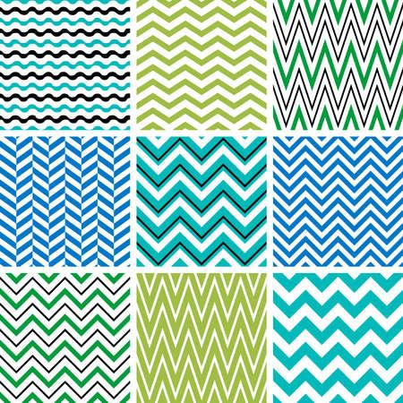 stripes seamless: Set of chevron seamless patterns