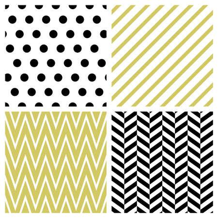 Set van geometrische naadloze patronen