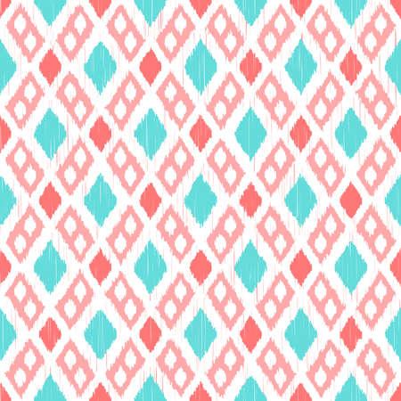 Ikat seamless pattern Illustration