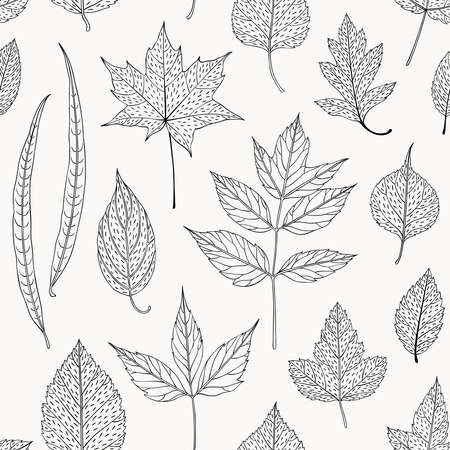 seamless floral pattern: Leaves seamless pattern