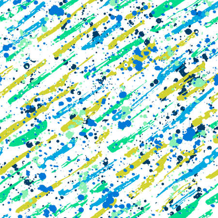 Abstract hand drawn seamless pattern, brush strokes and paint splashes texture
