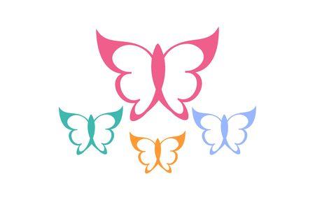 Butterfly  logo illustration. Illustration