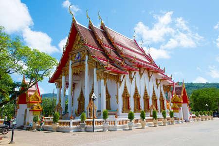 phuket province: a photo of temple in phuket province Stock Photo
