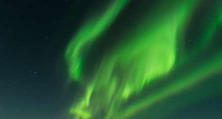 aurora: Aurora over sky in Iceland