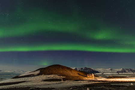 this is a photo of aurora in Iceland