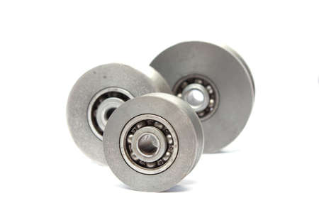 concision: The wheel bearings isolated on white background