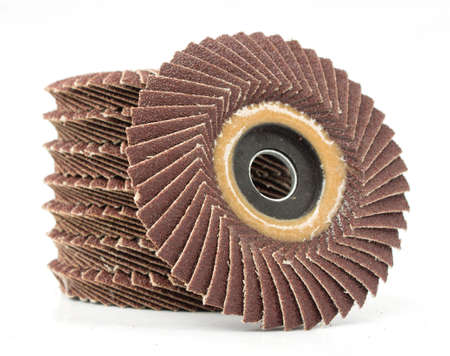 abrasive: abrasive flap discs on a white background