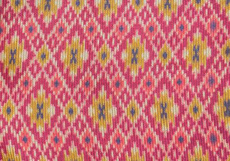 Colorful Thai silk fabric texture photo
