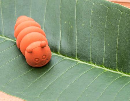 gusanos: gusanos juguetes hechos de goma Foto de archivo