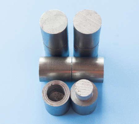 steel door: Metal hinges are used in conjunction with a steel door.