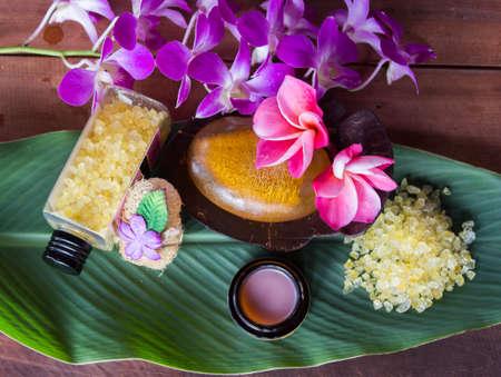 soak: Spa for a relaxing soak. Stock Photo